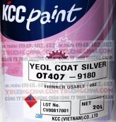 Sơn chịu nhiệt 200 độ C KCC OT407-9180 Silver phản quang