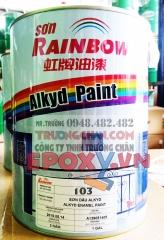 Sơn dầu 103 rainbow màu bạc