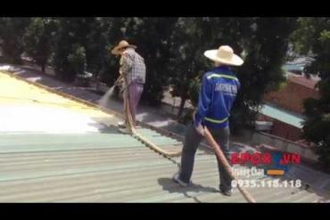 Sơn chống nóng chống dột mái tôn nhà xưởng